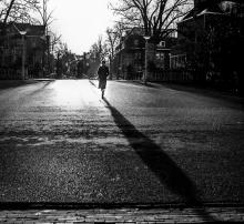 Vondelpark woman shadow